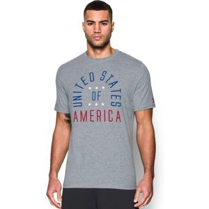 Under Armour Gray USA Home of the Brave Tee Shirt